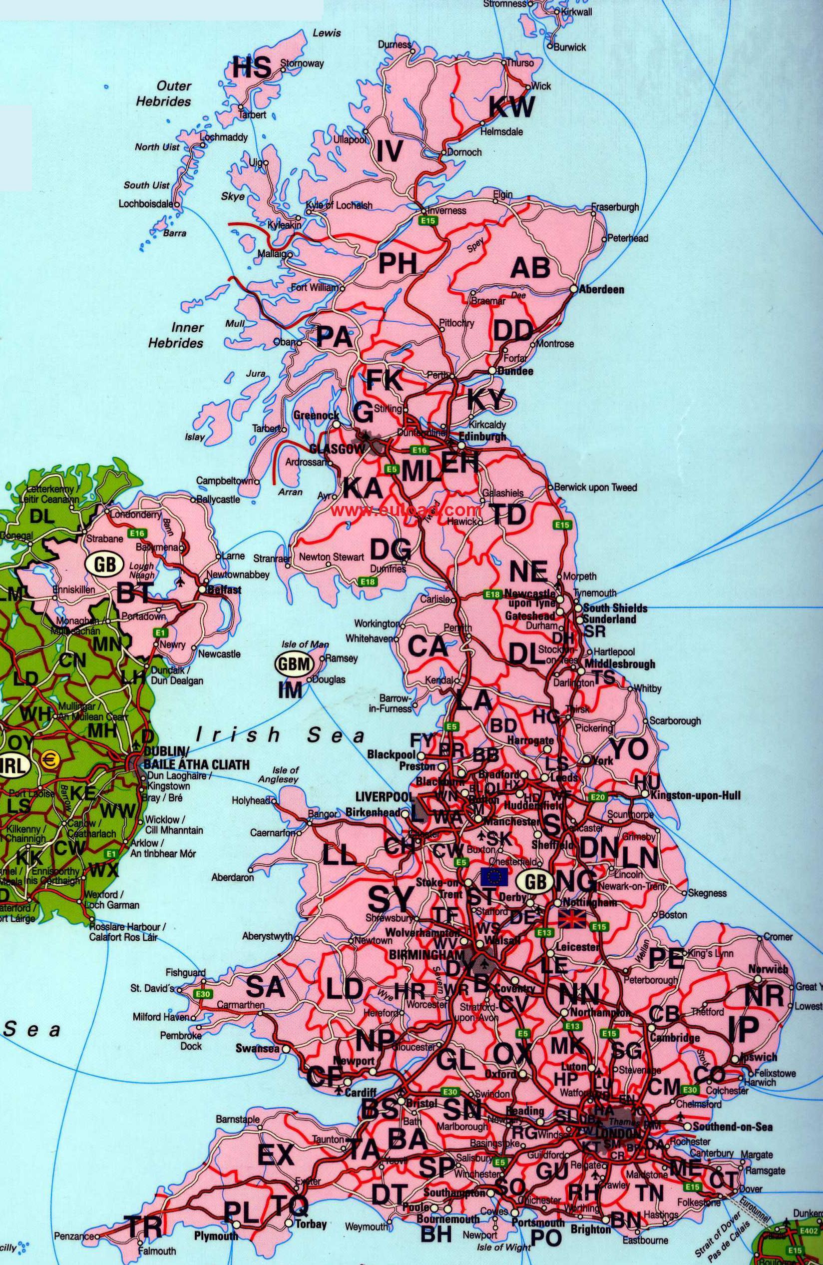 Anglia Harta