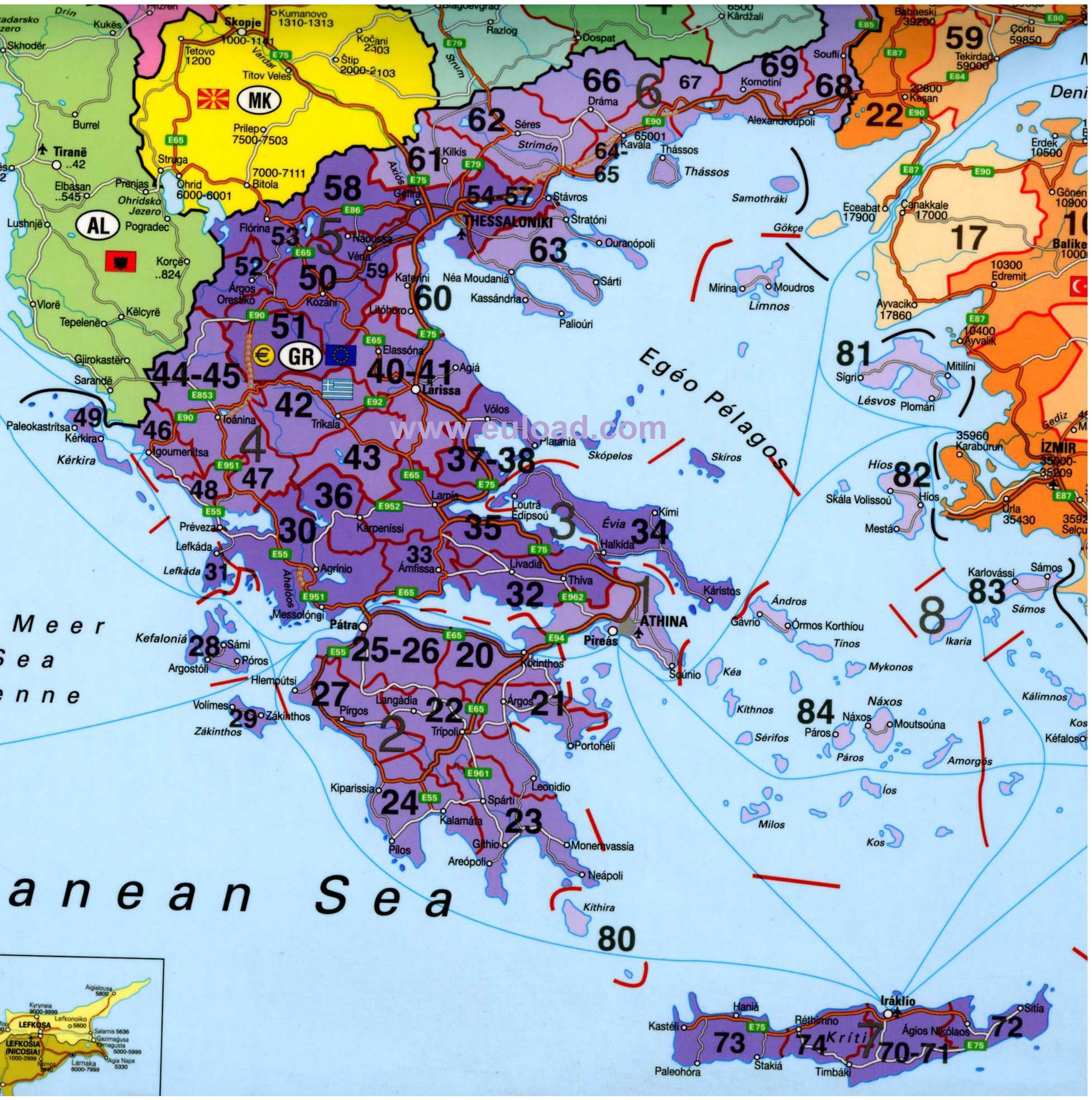 Harta Turistica A Greciei Harta