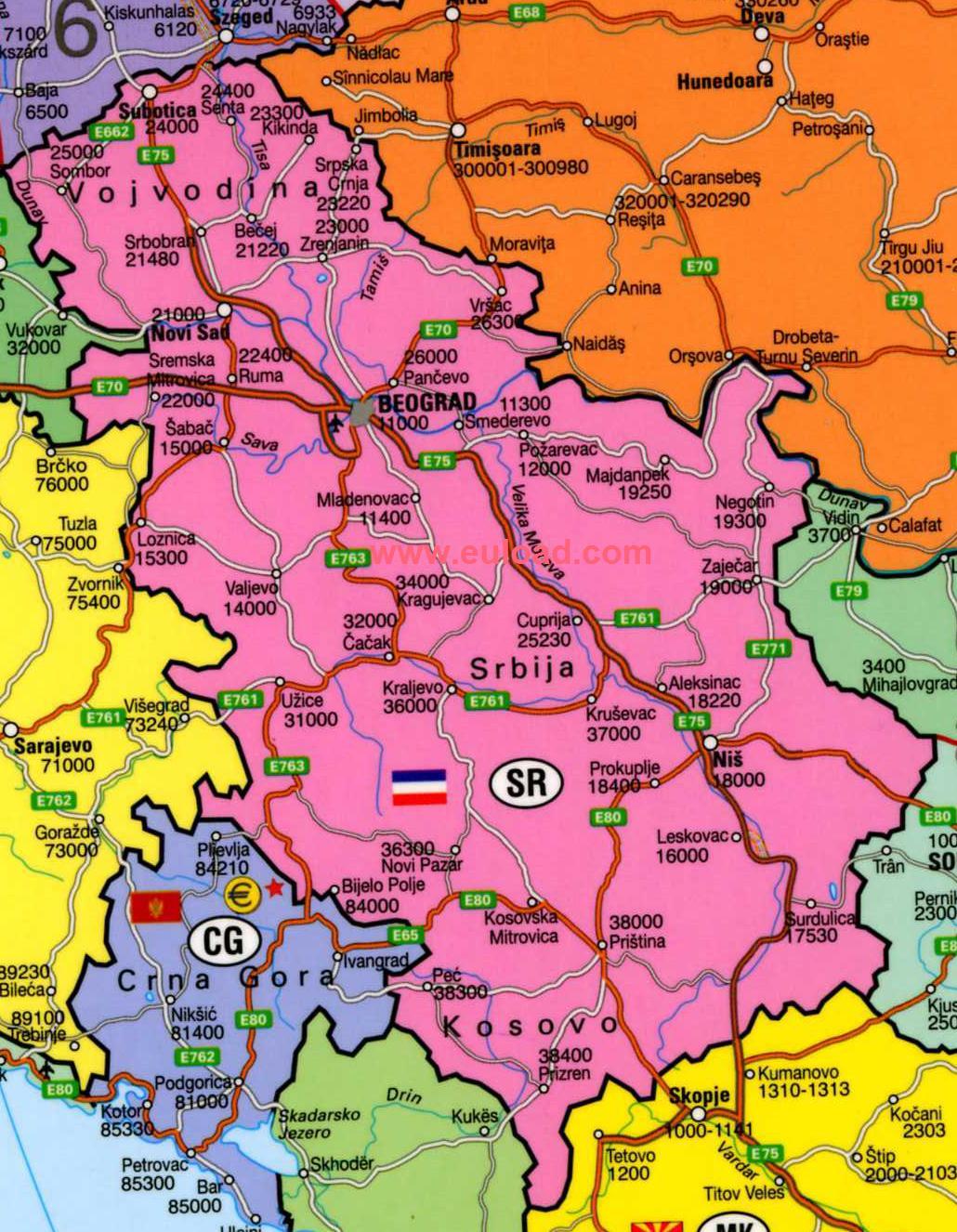 Harta Harta Serbia